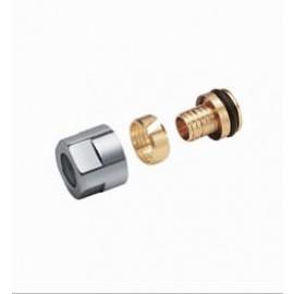 Adaptateur pour tube PER/PB 12 X 2 Finition Chrome ( Vendu par 2 )