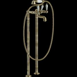 ANTICA Bain / Douche Vieux Bronze sur pieds
