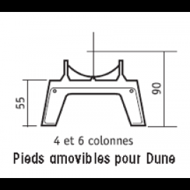 Pieds amovibles pour DUNE  4 et 6 Colonnes
