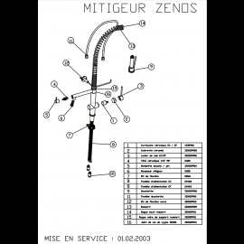 Piéces détachées ZENOS  < 07/2008 044384