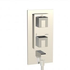 Façade mitigeur thermostatique à encastrer MYRIAD  2 sorties