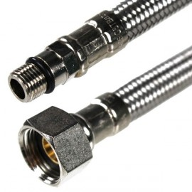 Flexibles raccordement robinetterie (X2) F 3/8 M 8 X 100 X 44