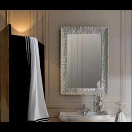Miroir rétro cadre bois Aluminium 90 X 70 cm