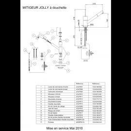Piéces détachées JOLLY 100165/100172