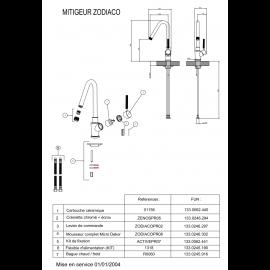 Piéces détachées ZODIACO 018400