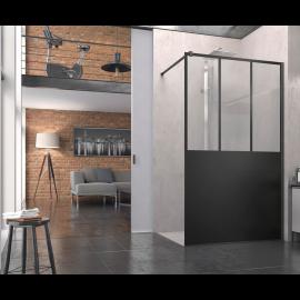 Paroi de douche Atelier fixe L 80 sans retour  avec barre SanSwiss