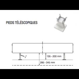 Pieds téléscopiques pour Radiateurs VASCO FLAT-PLINT-LINE