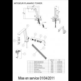Piéces détachées PLANARIO TOWER 521869