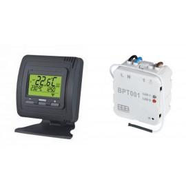 Kit Thermostat Noir et Récepteur encastré sans fil