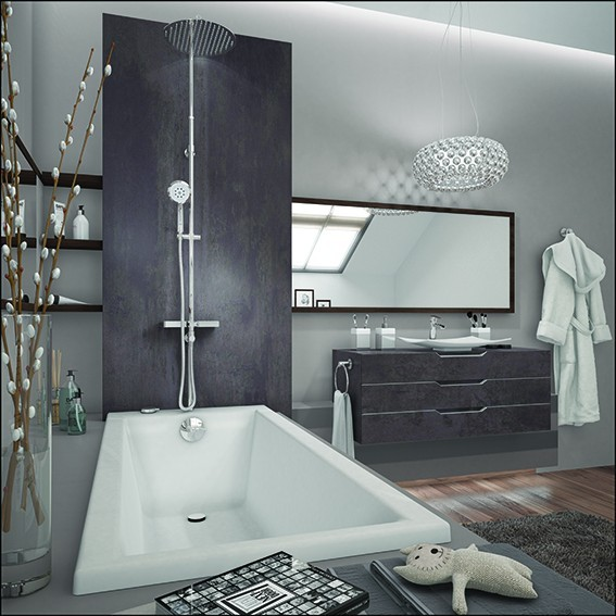 combin bain douche comodo de chez valentin. Black Bedroom Furniture Sets. Home Design Ideas