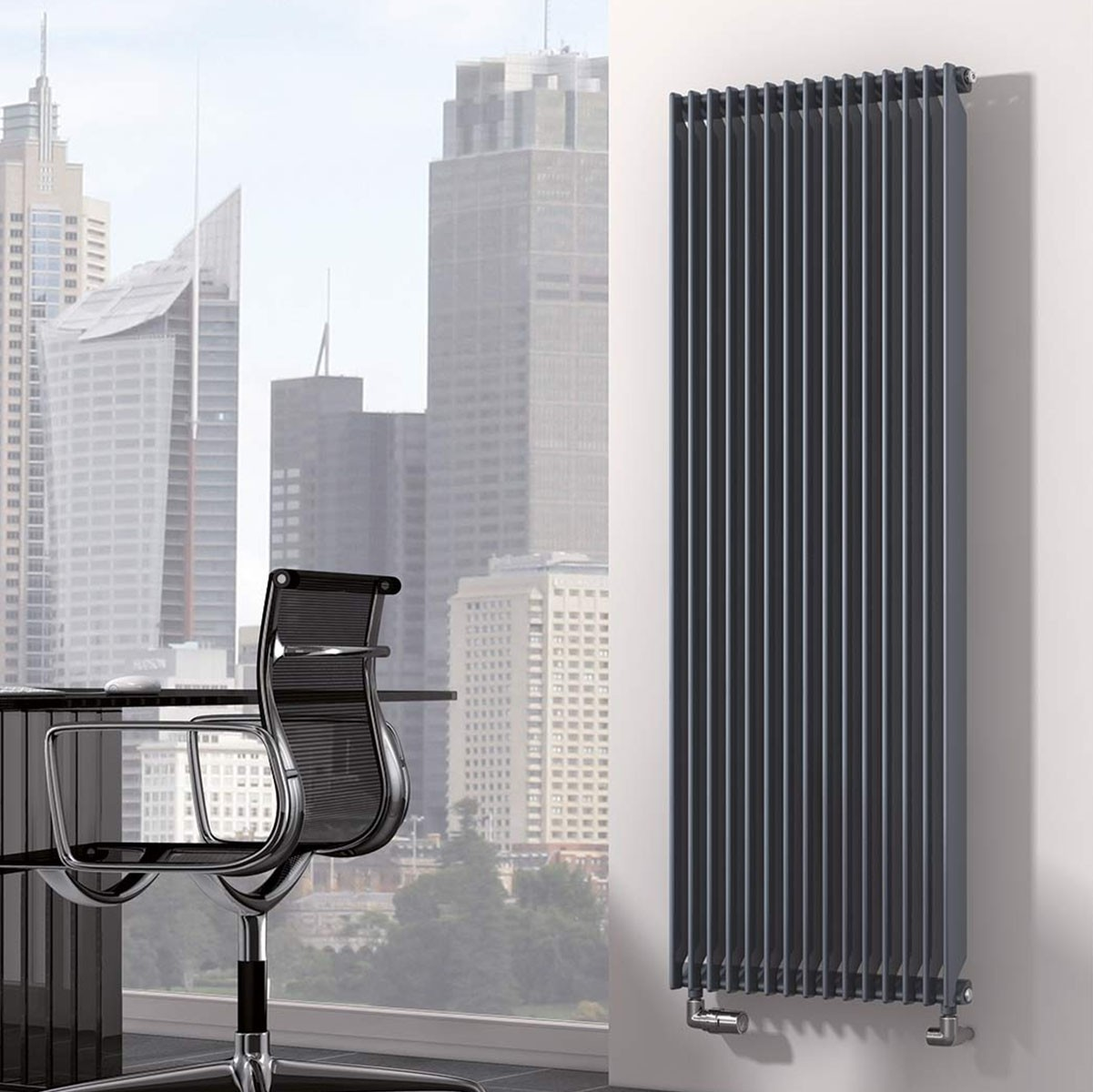 radiateur chrorus rythmic vertical radiateur finimetal. Black Bedroom Furniture Sets. Home Design Ideas
