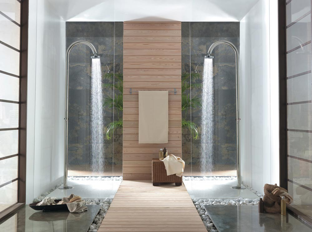 Colonne douche piscine 1 alimentation robinet temporis - Colonne de douche exterieur ...