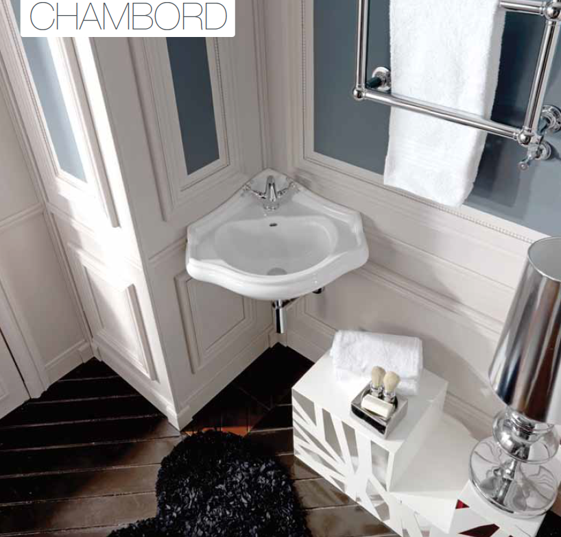 lavabo d 39 angle retro chambord de ondyna christina. Black Bedroom Furniture Sets. Home Design Ideas