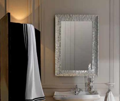 Miroir r tro avec cadre en bois finition aluminium ondyna cyber confort for Miroir 50 x 90