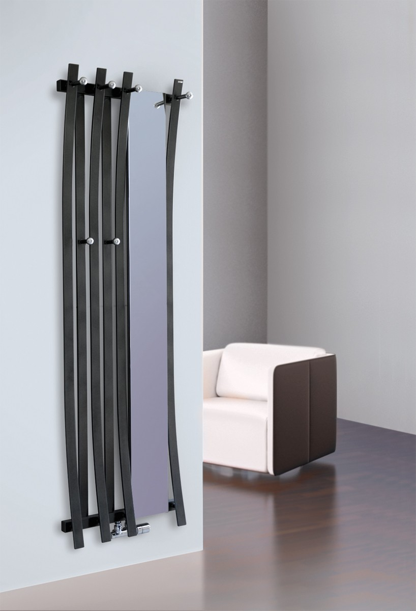 radiateur passo vertical chauffage central avec porte manteaux et ou miroir. Black Bedroom Furniture Sets. Home Design Ideas