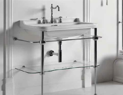pieds laiton chrome pour lavabo retro waldorf de ondyna christina cyber confort. Black Bedroom Furniture Sets. Home Design Ideas