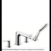 détails MELANGEUR  BAIN/DOUCHE METRIS E2 4 TROUS