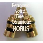 Paire Têtes céramiques de robinetterie HORUS