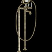 détails ANTICA Bain / Douche Vieux Bronze sur pieds