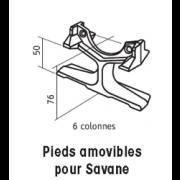 détails Pieds amovibles pour SAVANE 6