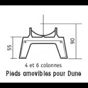 détails Pieds amovibles pour DUNE  4 et 6 Colonnes