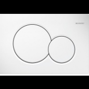 détails Plaque de déclenchement WC Blanc SIGMA01