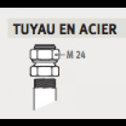 "Raccords Bicônes M24 X 1/2"" ACIER"
