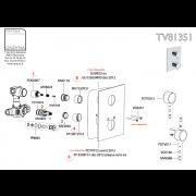 Joint de Plaque sans vis ONDYNA pour TV81351