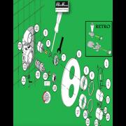 détails Kit réparation corps encastré 2 manettes