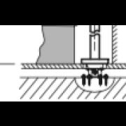 détails Base à encastrer pour mitigeur avec alimentation par le sol