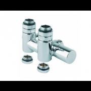 détails Kit Manuel entraxe 50 mm pour sèche-serviettes mixte