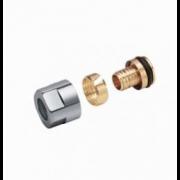 Adaptateurs pour tube PER/PB 12 X 2 Finition Chrome ( Vendu par 2 )