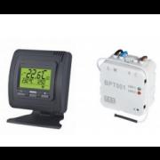 détails Kit Thermostat blanc ou noir sans fil mural ou encastré