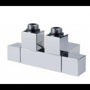 détails Vanne manuelle Noir Cube Twin