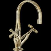 détails CARLOS PRIMERO Mélangeur Lavabo Vieux bronze