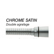 FLEXIBLE DOUBLE AGRAFAGE CHROMÉ SATIN