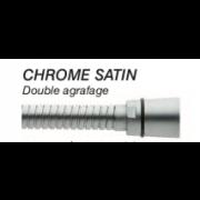 détails FLEXIBLE DOUBLE AGRAFAGE CHROMÉ SATIN
