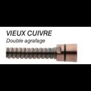détails FLEXIBLE DOUBLE AGRAFAGE VIEUX CUIVRE