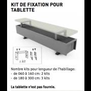 Kit de fixation pour tablette pour radiateur  MINI sur pieds JAGA