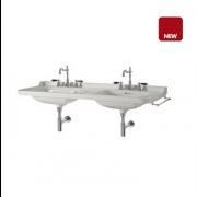 détails LAVABO DOUBLE CERAMIQUE WALDORF 1500 mm