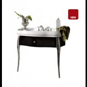 détails Meuble rétro avec tiroir et pieds console