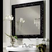 détails Miroir rétro cadre bois 100 X 100 cm