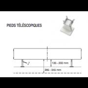 détails Pieds téléscopiques pour Radiateurs VASCO FLAT-PLINT-LINE