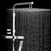 détails Pomme de douche carrée INOX ( extra-plate )