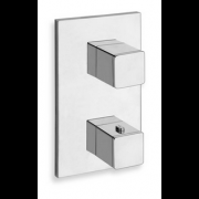détails QUADRI 2 SORTIES THERMOSTATIQUE DOUCHE CHROME