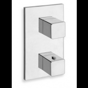 détails QUADRI 3 SORTIES THERMOSTATIQUE DOUCHE MITIGEUR CHROME