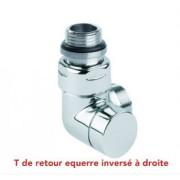 """détails T de retour Corner Chrome/Satin MM 1/2"""" 3/4"""" EK Droite"""