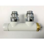 """détails Vanne Thermostatique Blanc en H Equerre MM 1/2"""" M 3/4"""" EK M blanc"""