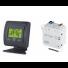 Kit Thermostat blanc ou noir sans fil mural ou encastré