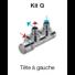Kit Thermostatisable entraxe 50 mm équerre Zehnder